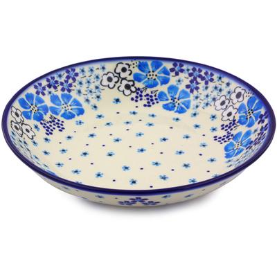 Polish Pottery 8-inch Pasta Bowl   Boleslawiec Stoneware   Polmedia H0114J