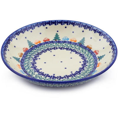 Polish Pottery 8-inch Pasta Bowl   Boleslawiec Stoneware   Polmedia H1035F