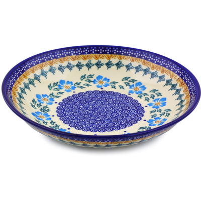 Polish Pottery 8-inch Pasta Bowl | Boleslawiec Stoneware | Polmedia H9812I