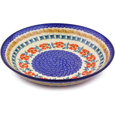 Polish Pottery 8-inch Pasta Bowl | Boleslawiec Stoneware | Polmedia H9846I
