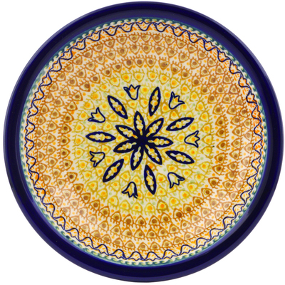 Polish Pottery 9-inch Pasta Bowl | Boleslawiec Stoneware | Polmedia H0098A