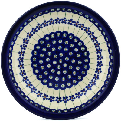 Polish Pottery 9-inch Pasta Bowl | Boleslawiec Stoneware | Polmedia H0108A