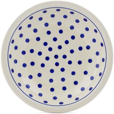 Polish Pottery 9-inch Pasta Bowl   Boleslawiec Stoneware   Polmedia H0117A