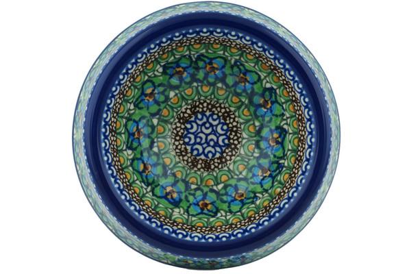 covered pet bowls polish pottery 7 inch pet bowl boleslawiec stoneware polmedia
