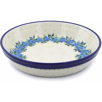 Polish Pottery 10-inch Pie Dish | Boleslawiec Stoneware | Polmedia H0515J