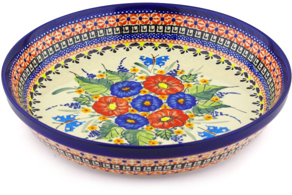 Polish Pottery 10 Inch Pie Dish Boleslawiec Stoneware