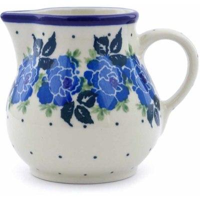 Polish Pottery 8 oz Pitcher | Boleslawiec Stoneware | Polmedia H1064J