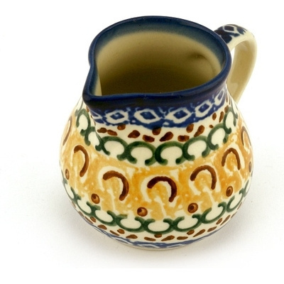 Polish Pottery 8 oz Pitcher | Boleslawiec Stoneware | Polmedia H3483A