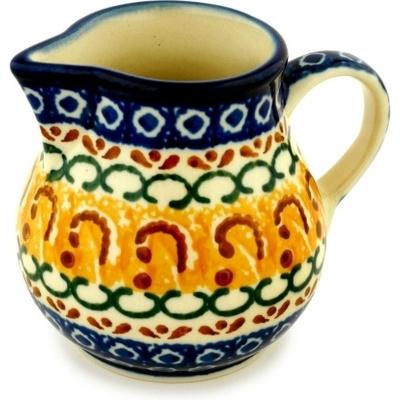 Polish Pottery 8 oz Pitcher | Boleslawiec Stoneware | Polmedia H3484A
