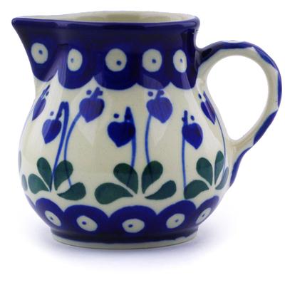 Polish Pottery 8 oz Pitcher | Boleslawiec Stoneware | Polmedia H9385A