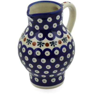 Polish Pottery 24 oz Pitcher | Boleslawiec Stoneware | Polmedia H6610F