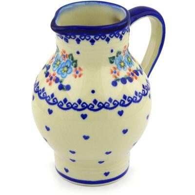 Polish Pottery 24 oz Pitcher | Boleslawiec Stoneware | Polmedia H6541F
