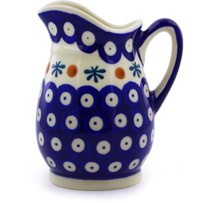 Polish Pottery 12 oz Pitcher   Boleslawiec Stoneware   Polmedia H9884I