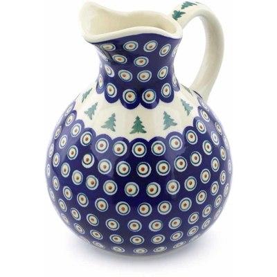 Polish Pottery 83 oz Pitcher | Boleslawiec Stoneware | Polmedia H1281J