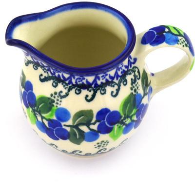 Polish Pottery 7 oz Pitcher | Boleslawiec Stoneware | Polmedia H1781D