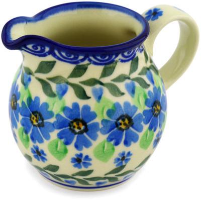 Polish Pottery 7 oz Pitcher | Boleslawiec Stoneware | Polmedia H1370D