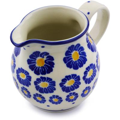 Polish Pottery 7 oz Pitcher | Boleslawiec Stoneware | Polmedia H7207I