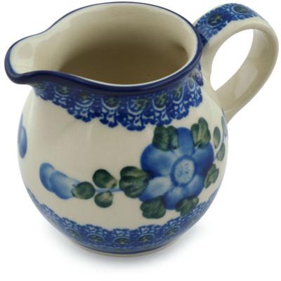 Polish Pottery 7 oz Pitcher   Boleslawiec Stoneware   Polmedia H1418B