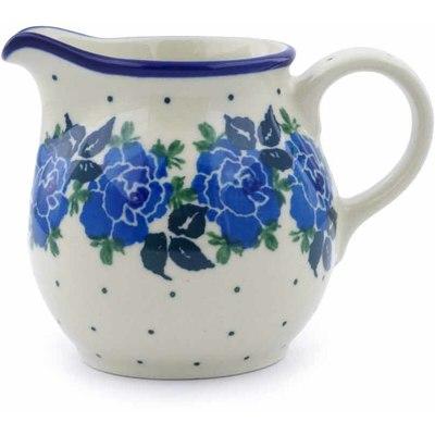 Polish Pottery 7 oz Pitcher | Boleslawiec Stoneware | Polmedia H1065J
