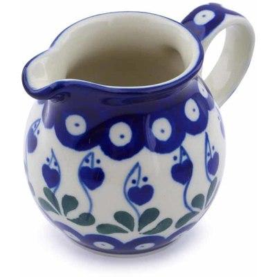 Polish Pottery 7 oz Pitcher | Boleslawiec Stoneware | Polmedia H7207B