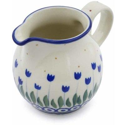 Polish Pottery 7 oz Pitcher | Boleslawiec Stoneware | Polmedia H0360J