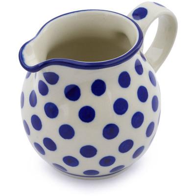 Polish Pottery 7 oz Pitcher | Boleslawiec Stoneware | Polmedia H0210B