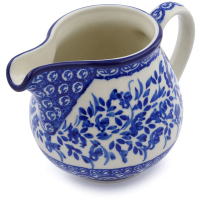 Polish Pottery 8 oz Pitcher | Boleslawiec Stoneware | Polmedia H0933B