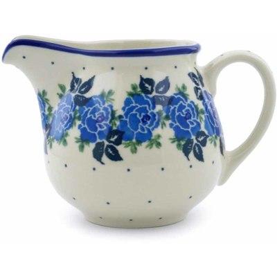 Polish Pottery 8 oz Pitcher | Boleslawiec Stoneware | Polmedia H1067J