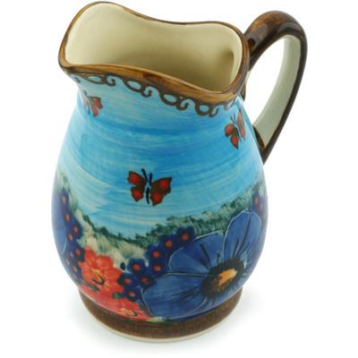 Polish Pottery 12 oz Pitcher | Boleslawiec Stoneware | Polmedia H5359I