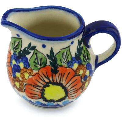 Polish Pottery 8 oz Pitcher | Boleslawiec Stoneware | Polmedia H1000H