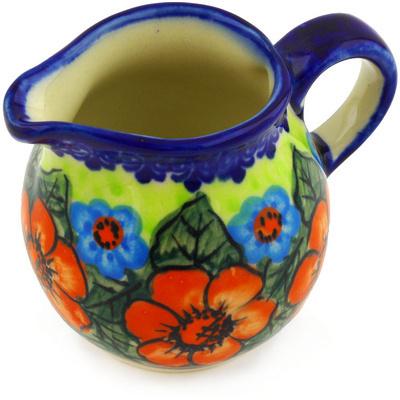 Polish Pottery 8 oz Pitcher | Boleslawiec Stoneware | Polmedia H9318F