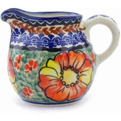 Polish Pottery 8 oz Pitcher | Boleslawiec Stoneware | Polmedia H1283J