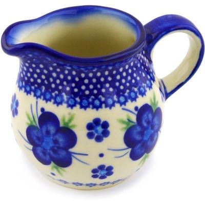 Polish Pottery 8 oz Pitcher | Boleslawiec Stoneware | Polmedia H4957F