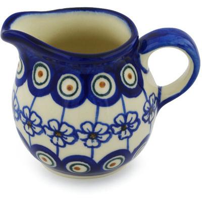 Polish Pottery 8 oz Pitcher | Boleslawiec Stoneware | Polmedia H0451H