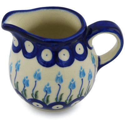 Polish Pottery 8 oz Pitcher   Boleslawiec Stoneware   Polmedia H0650H