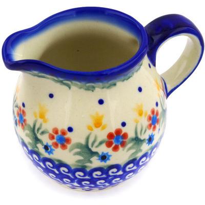 Polish Pottery 8 oz Pitcher | Boleslawiec Stoneware | Polmedia H3658E