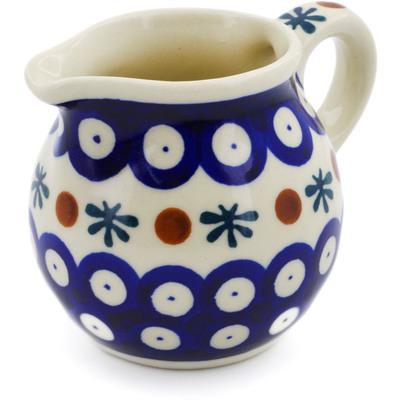 Polish Pottery 8 oz Pitcher | Boleslawiec Stoneware | Polmedia H6182F