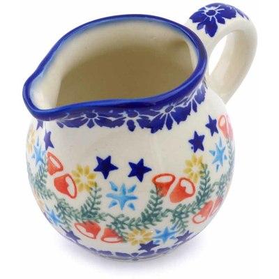 Polish Pottery 8 oz Pitcher | Boleslawiec Stoneware | Polmedia H1298J