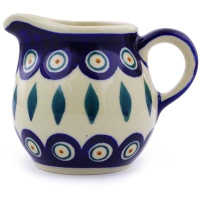 Polish Pottery 8 oz Pitcher | Boleslawiec Stoneware | Polmedia H9876I