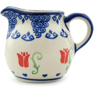 Polish Pottery 8 oz Pitcher | Boleslawiec Stoneware | Polmedia H5732I