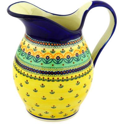 Polish Pottery 64 oz Pitcher | Boleslawiec Stoneware | Polmedia H0789D