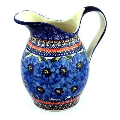 Polish Pottery 64 oz Pitcher | Boleslawiec Stoneware | Polmedia H8941B