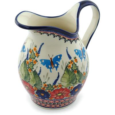 Polish Pottery 64 oz Pitcher | Boleslawiec Stoneware | Polmedia H4203C