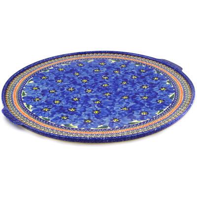 Polish Pottery 17-inch Pizza Plate | Boleslawiec Stoneware | Polmedia H7427D