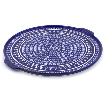 Polish Pottery 17-inch Pizza Plate | Boleslawiec Stoneware | Polmedia H5940I