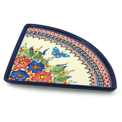 Polish Pottery 11-inch Pizza Plate | Boleslawiec Stoneware | Polmedia H2816I