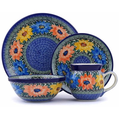 Polish Pottery 10-inch Place Setting   Boleslawiec Stoneware   Polmedia H0722J