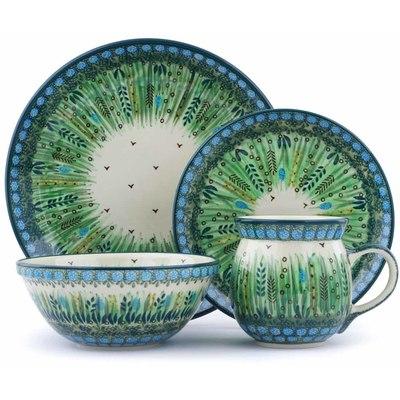 Polish Pottery 10-inch Place Setting | Boleslawiec Stoneware | Polmedia H0721J