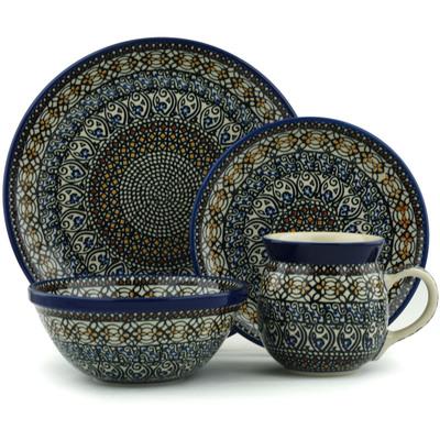 Polish Pottery 10-inch Place Setting | Boleslawiec Stoneware | Polmedia H6004I