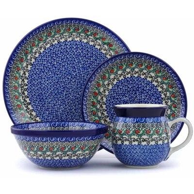 Polish Pottery 10-inch Place Setting | Boleslawiec Stoneware | Polmedia H0724J